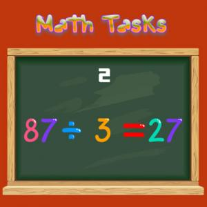 Math Tasks True Or False